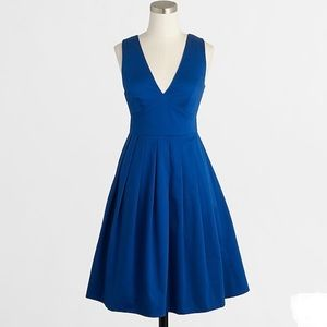 J. Crew Sateen V-neck Mini Dress